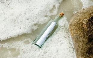 Po 50 letih v Avstraliji našli sporočilo v steklenici!
