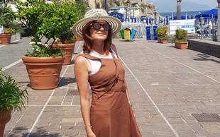 Simona Vodopivec Franko uživa ob Tirenskem morju na jugu Italije