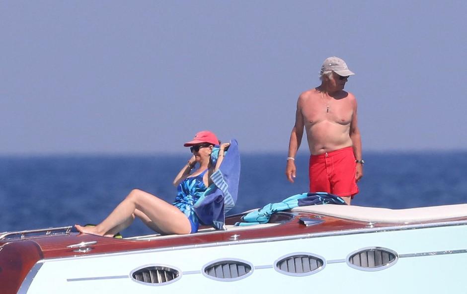 Švedski kralj Karl Gustaf s svojo soprogo, kraljico Silvijo, vsako leto počitnikuje na Azurni obali okoli St. Tropeza. (foto: Foto: Profimedia Profimedia, Abaca Press)