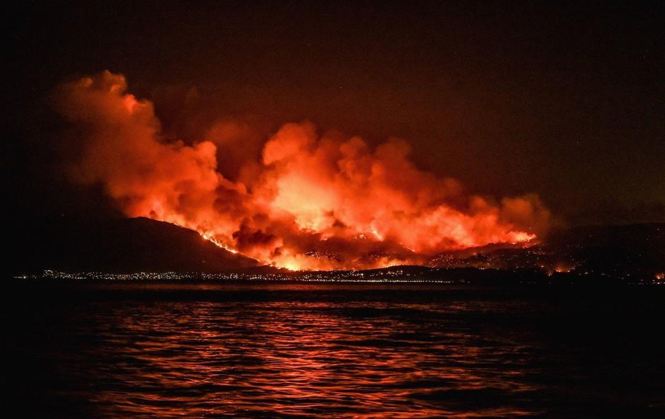 Po nekajtedenski suši je zagorelo v Grčiji in na Cipru (foto: profimedia)