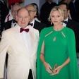 Princesa Charlene blestela v prekrasni zeleni kreaciji