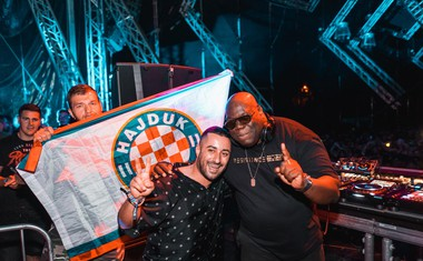 Legendarni Carl Cox in Leon Grdić.
