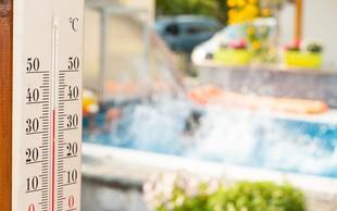 Ogrelo se bo do 33 stopinj Celzija; v sredo poslabšanje