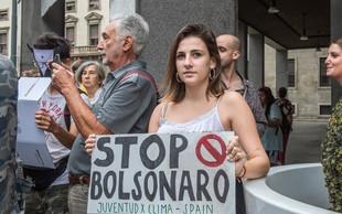 Mladi za podnebno pravičnost bodo protestirali pred brazilsko ambasado
