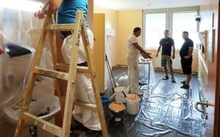 Prostovoljci začeli barvanje oddelka na pediatrični kliniki