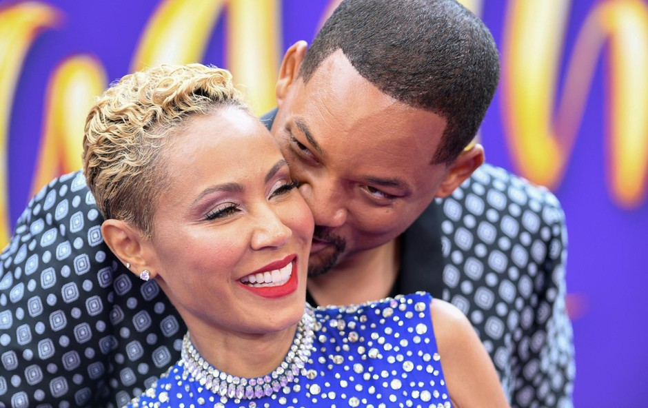 """US actor Will Smith and his wife actress Jada Pinkett Smith attend the World Premiere of Disney's """"Aladdin"""" at El Capitan theatre on May 21, 2019 in Hollywood., Image: 435502202, License: Rights-managed, Restrictions:, Model Release: no, Credit line: Profimedia, AFP (foto: Profimedia)"""