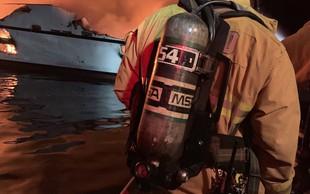 Pred kalifornijsko obalo v goreči ladji umrlo več ljudi, na desetine jih še pogrešajo