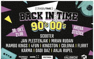 Arena Stožice bo gostila DJT 90's/00 Back In Time!