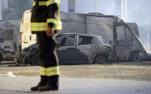 Na splitskem poslovnem terminalu zgorelo več avtomobilov