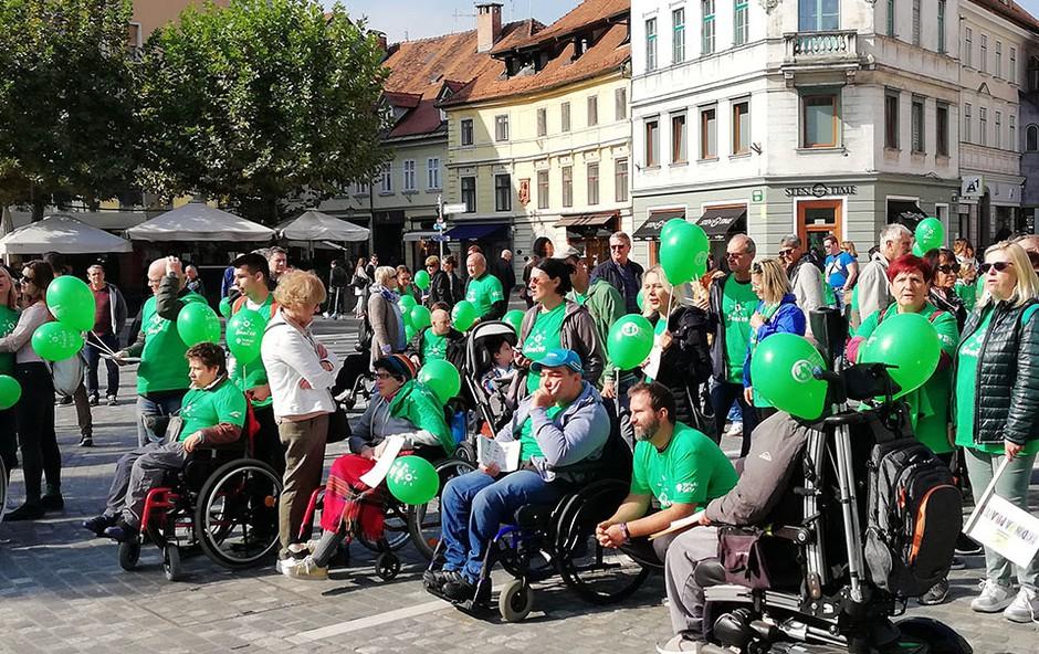 Svetovni dan cerebralne paralize: »JAZ SEM TUKAJ« (foto: Press Zveza Sonček)
