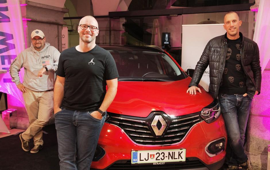 Ob bok Renaulta Kadjar se je postavila ekipa Atmosferci. (foto: Aleksandra Saša Prelesnik)