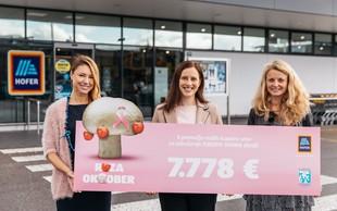 Hofer s kupci zbral 7.778 evrov za boj proti raku dojk