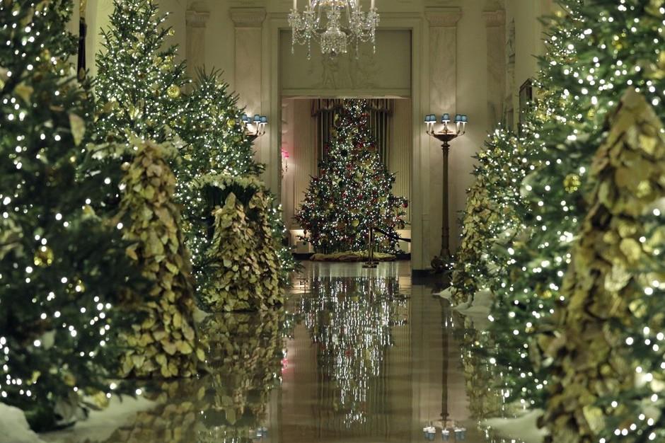 Poglejte, kako razkošno je Melania Trump okrasila Belo hišo (foto: Profimedia)