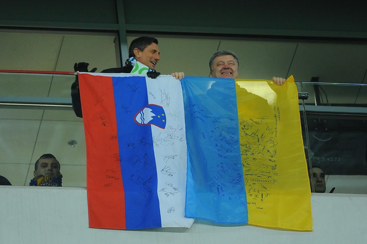 Pahor in Porošenko